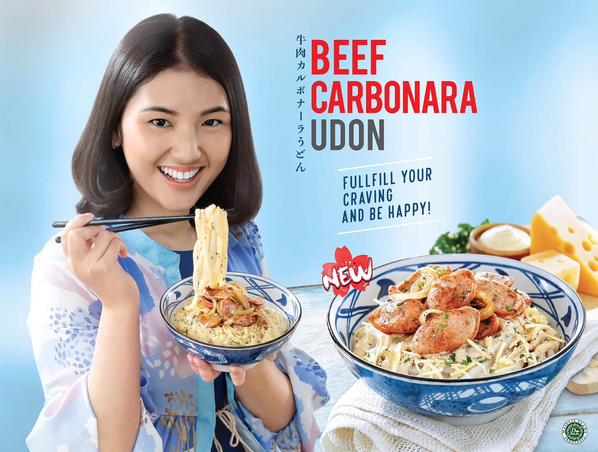 Beef Carbonara Udon