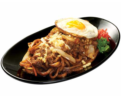 Yaki Udon Beef With Extra Fried Egg