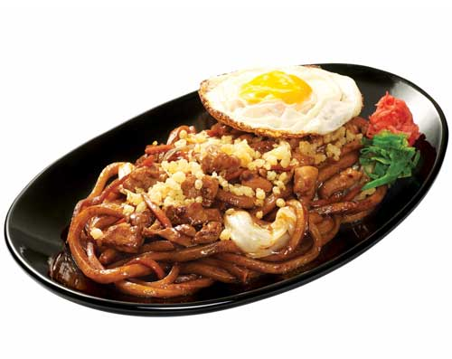 Yaki Udon Chicken With Extra Fried Egg